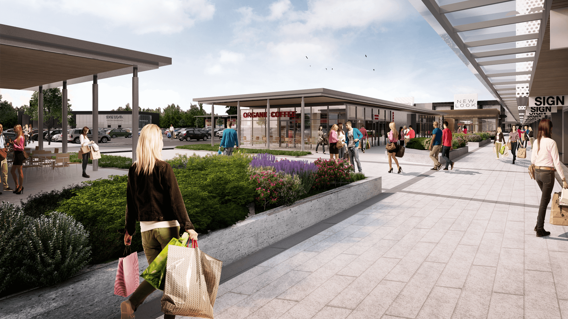 Monks Cross Shopping Park - Retail Park Facelifts